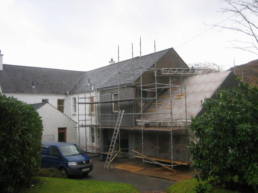 Kingairloch House renovations