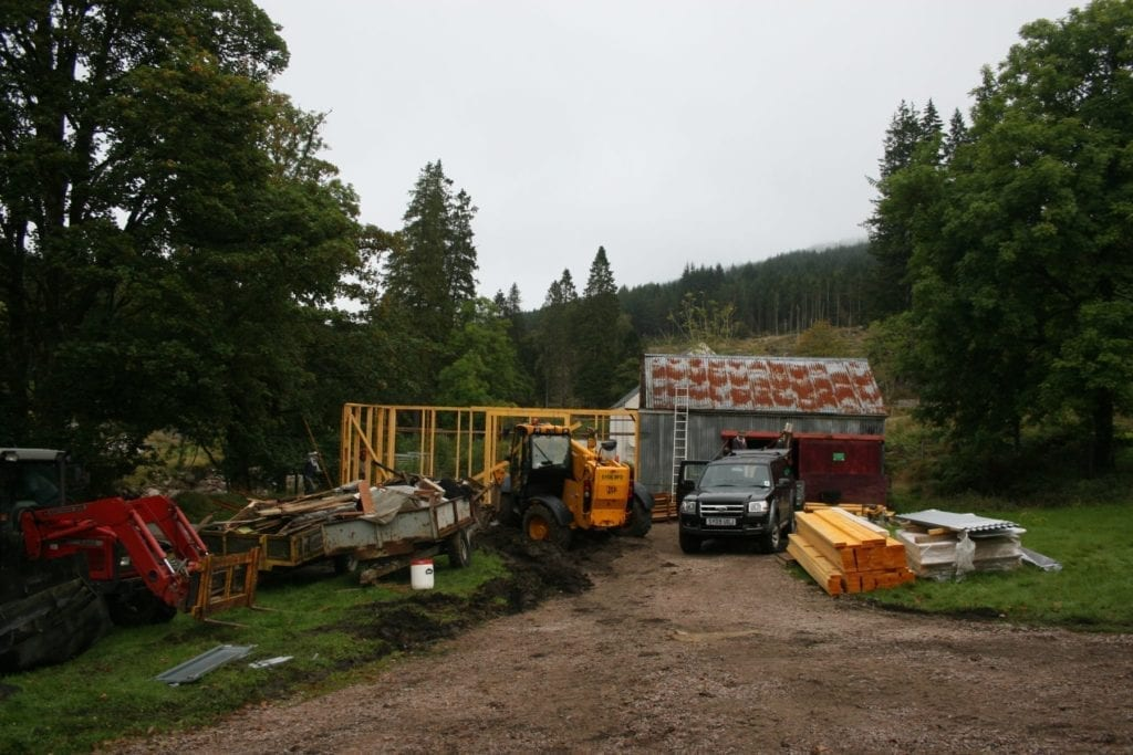 New biomass shed built