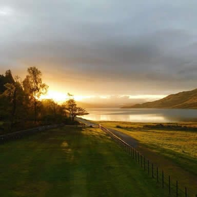 Dawn at the gate lodge